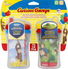Curious George Toddler Bedding by Gerber Graduates Curious George Insulated Hard Spout Sippy Cup 9