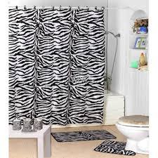 Pink Cheetah Print Bathroom Set by 22pc Bath Accessories Set Black Zebra Animal Print Bathroom Rugs