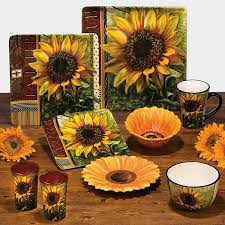 Online Shop Ceramic Fashion Rustic American Sunflower Decoration Plate Hanging Western Dish Mug Bowl
