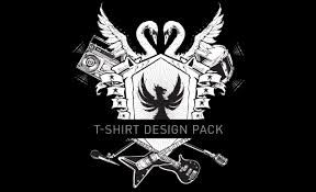 rock and roll t shirt design pack