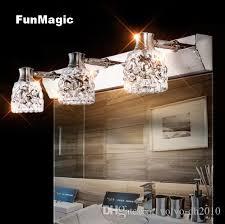 großhandel moderne kristall wandleuchte spiegelschrank led spiegel frontleuchte schlafzimmer nachttischle eitelkeit beleuchtung wand leuchte