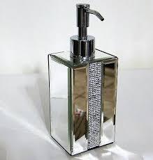 Bella Lux Mirror Rhinestone Bathroom Accessories by Bella Lux Mirror Rhinestone Crystal Lotion Soap Dispenser Bathroom