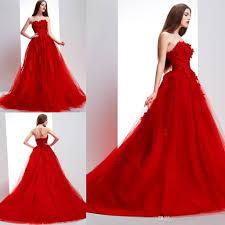 2016 elie saab vintage red wedding dresses online sleeveless