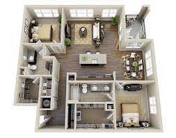 104 Two Bedroom Apartment Design 10 Awesome 3d Floor Plans Layout Floor Plans Floor Plan
