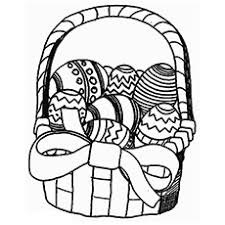 Easter Basket Bells Ringing Coloring Page To Print
