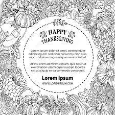 Vector Griffonne Thanksgiving Fond Turquie Corne Dabondance