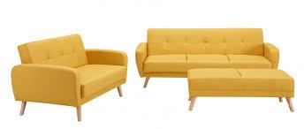 pouf canapé deco in ensemble canape convertible jaune scandinave 3 2