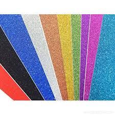 Misscrafts 10 Sheets Large 30cm X Self Adhesive Craftwork Glitter Vinyl Sticker Paper Art Sparkling Sign Gemstone Metallic Colour