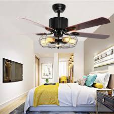 52 inch deckenventilator mit beleuchtung und fernbedienung industrie fan flush deckenleuchte retro kronleuchter für schlafzimmer wohnzimmer esszimmer