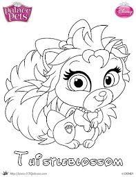 Thistleblossom Princess Palace Pet Coloring Page By SKGaleana