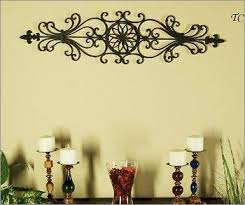 Tuscan Decorating You Can Hang The Large Wrought Iron Wall Decor