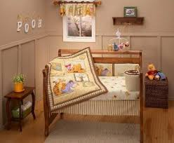 Classic Pooh Crib Bedding by Transport Cot Bedding Set Tokida For