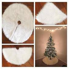 Long Snow Plush Christmas Tree Skirt Base Floor Mat Cover XMAS Party Decor New J