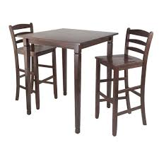 Shop 3-Pc Kingsgate High/Pub Dining Table With Ladder Back High ... Grey Glass High Gloss Ding Table And 4 Chairs Set Bar Table And Two High Stool Chairs Modern Design Stock Photo 40 Excellent Two Seater Online Bistro With Stools Fniture Tables On Amelia Twotone Wood Barstools Room Ideas Ikea Small Top Round 84 Off Counter Garden In N21 Ldon For 4000 Sale Shpock With Home Design Modern Extension Tags Ding Bar