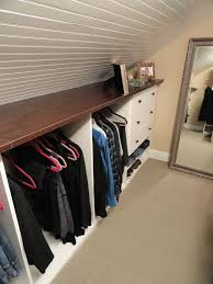 Attic Closet Storage With Shelf If You Are Converting Your Into A Living Space