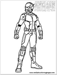 Ant Man Coloring Pages Printable Realistic