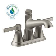 Fontaine Faucets Out Of Business by Moen Darcy 4 In Centerset 2 Handle Bathroom Faucet In Spot Resist