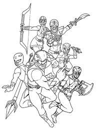 Coloring Page Power Rangers Superheroes 86