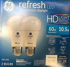 120v ge a19 60w light bulbs with dimmable ebay