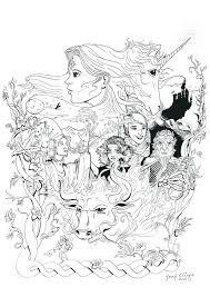 The Last Unicorn Coloring Pages Poster Drawing