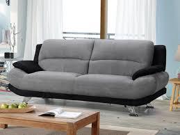 canapé en microfibre bicolore gris et noir musko