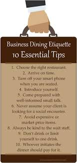 10 Essential Business Dining Etiquette Tips