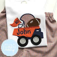 Boy Shirt- Navy And Blue Football Dumptruck Applique Shirt – Little ... Personalized Birthday Dump Truck Applique Shirt Or Bodysuit Girl Boy Valentines Day With Hearts Boyss Tow Machine Embroidery Design Blue Green Boy Christmas Mardi Gras Crimson Football Dumptruck Little 2 Dump Truck Applique Etsy Shamrock Saint Patricks Embroitique Gifts Filled For