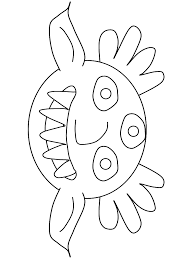 Little Monster Halloween Print Coloring Pages
