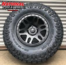 100 Truck Rims And Tires Packages 17X85 Fuel OffRod Recoil Mounted Up To A 35X1250R17 Nitto Ridge