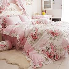 Amazon FADFAY Home Textile Pink Rose Floral Print Duvet Cover