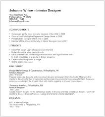 Landscaping Resume Examples Interior Designer Sample Best Objective