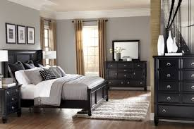 Modern Black Bedroom Furniture With Decorating For