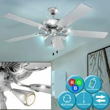 deckenventilatoren rgb led decken ventilator vor rück lauf