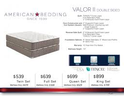 Please visit Corsicana Bedding or American Bedding for more information about the mattress selection offered at our furniture and bedding store