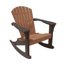 Perfect Choice Camel On Mocha Poly-Lumber Outdoor Rocking Chair