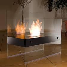 bioethanol standkamin aus glas ethanol kamin dekofeuer fürs wohnzimmer kamin ohne abzug wohndekoration wohnaccessoire