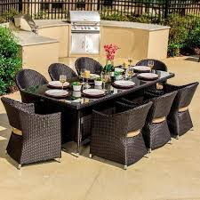 8 Person Patio Table inspiring wicker patio dining set dining room outdoor wicker new
