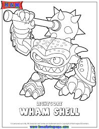 Skylanders Swap Force Water Lightcore Wham Shell Coloring Page