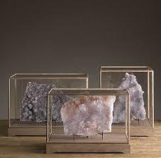 View In Gallery Druzy Specimens Display Cases From Restoration Hardware