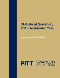 Swanson School Of Engineering 2016 Statistical Summary By PITT