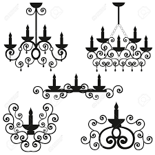 Chandeliers With A Pattern On Ceiling The Burning Candles In Candlestick