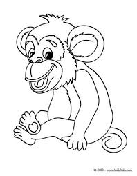 Monkey Picture Coloring Page More Jungle Animals Sheets On Hellokids