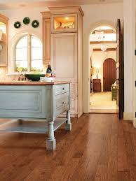 Trafficmaster Glueless Laminate Flooring Lakeshore Pecan by Laminate Flooring In The Kitchen Hgtv