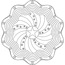 Dont Eat The Paste Stars And Stripes Mandala Coloring Page