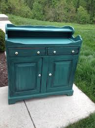 Ethan Allen Maple Dry Sink by Vintage Dry Sink Painted In Home Made Turquoise Chalk Paint Used