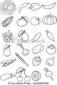 Set Fruits And Ve ables Vector