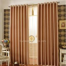 Insulated Window Curtain Liner by Thick Artificial Fiber Golden Brown Insulated And Thermal Blackout