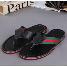 Gucci Slippers For Men Flip Flops Summer Fashion Brand Rubber Wear Resistant Shoes Beach GUCSLE 033