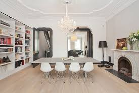 View In Gallery Scandinavian Style Dining Room And Home Library Design Jensen C Vasil Architect