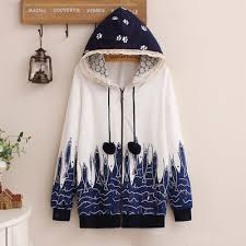 cat hoodies hoodie coat kawaii harajuku fashion